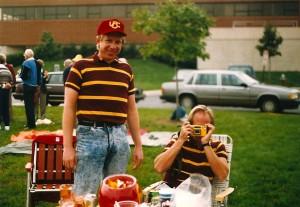 Uncle Jim cheering on his favorite team: USC.